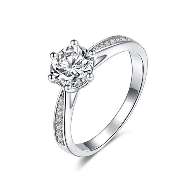 Nhẫn bạc mạ bạch kim đính đá Zircon LILI_422864-03