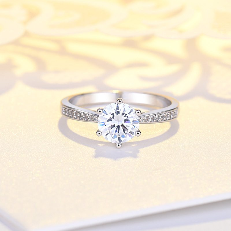 Nhẫn bạc mạ bạch kim đính đá Zircon LILI_422864-05