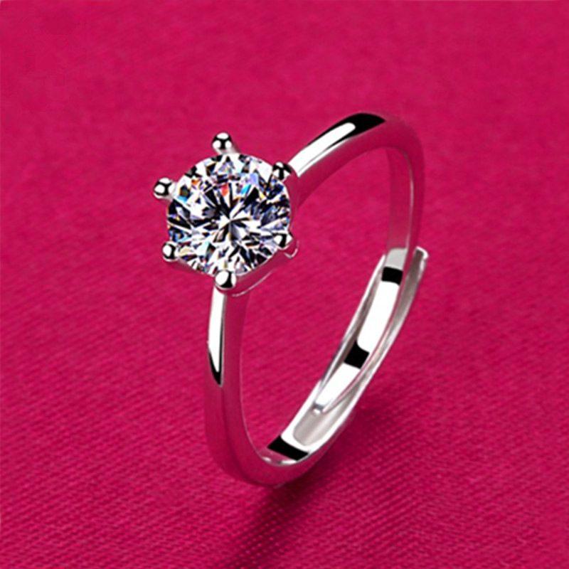 Nhẫn bạc mạ bạch kim đính đá Zircon LILI_616123-01
