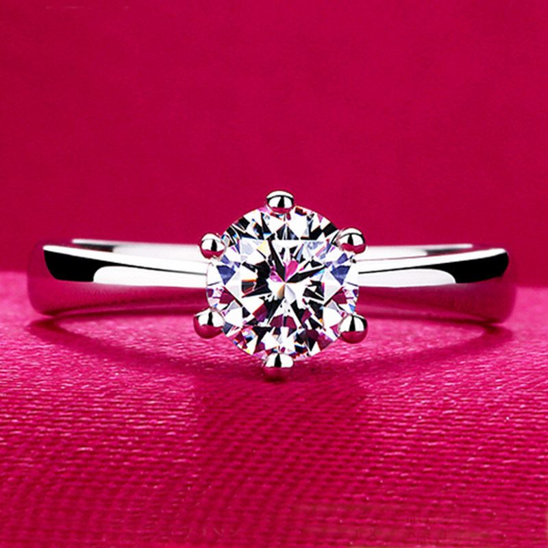 Nhẫn bạc mạ bạch kim đính đá Zircon LILI_616123-02