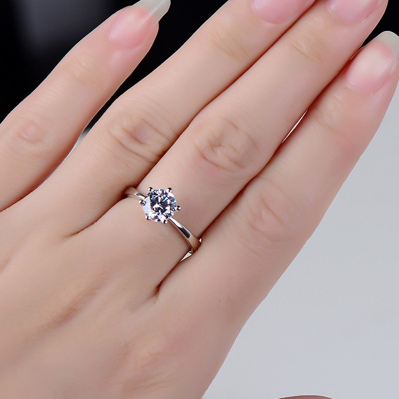 Nhẫn bạc mạ bạch kim đính đá Zircon LILI_616123-03