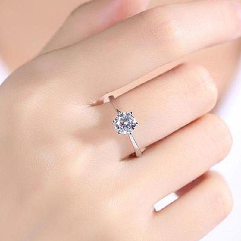 Nhẫn bạc mạ bạch kim đính đá Zircon LILI_616123-04
