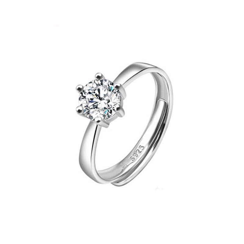 Nhẫn bạc mạ bạch kim đính đá Zircon LILI_616123-05