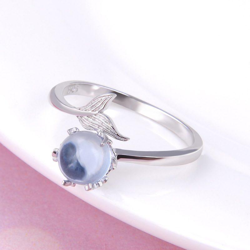 Nhẫn bạc mạ bạch kim đính đá Zircon Nàng tiên cá LILI_745238-01