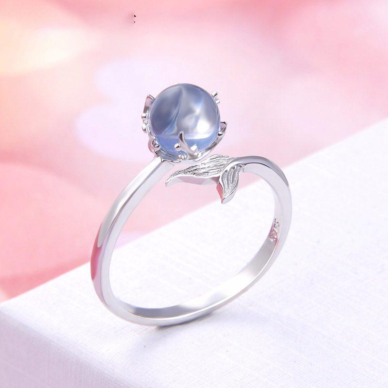 Nhẫn bạc mạ bạch kim đính đá Zircon Nàng tiên cá LILI_745238-02