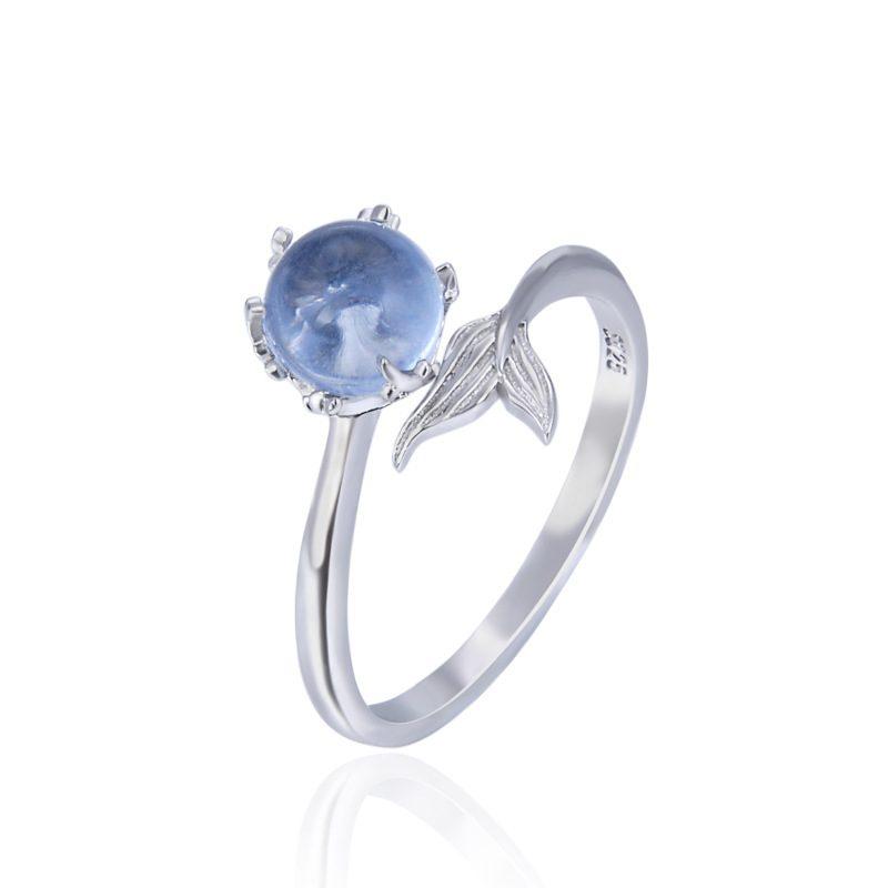 Nhẫn bạc mạ bạch kim đính đá Zircon Nàng tiên cá LILI_745238-03