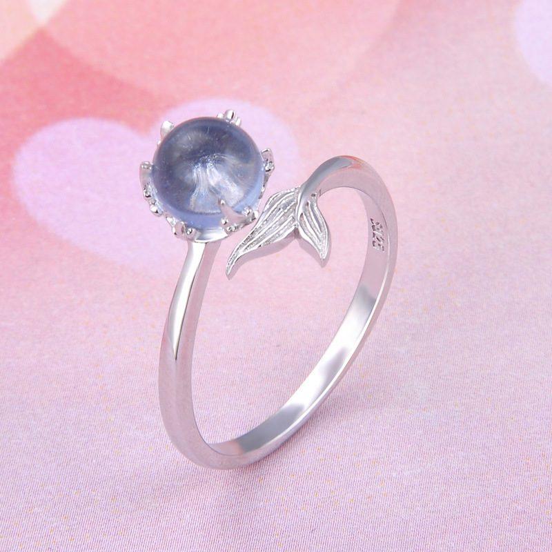 Nhẫn bạc mạ bạch kim đính đá Zircon Nàng tiên cá LILI_745238-04