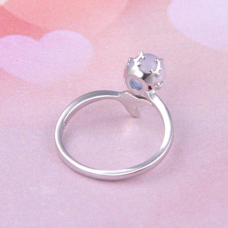 Nhẫn bạc mạ bạch kim đính đá Zircon Nàng tiên cá LILI_745238-05
