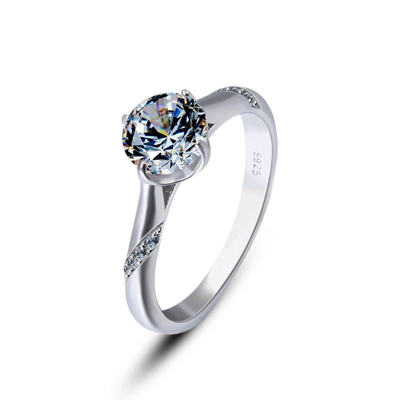 Nhẫn bạc mạ bạch kim đính đá Zircon Royal LILI_424258-05