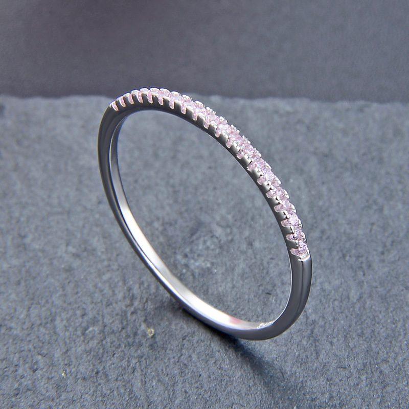 Nhẫn bạc mạ bạch kim đính đá Zircon The Light LILI_414332-01