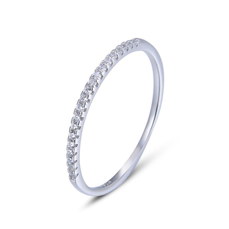 Nhẫn bạc mạ bạch kim đính đá Zircon The Light LILI_414332-05