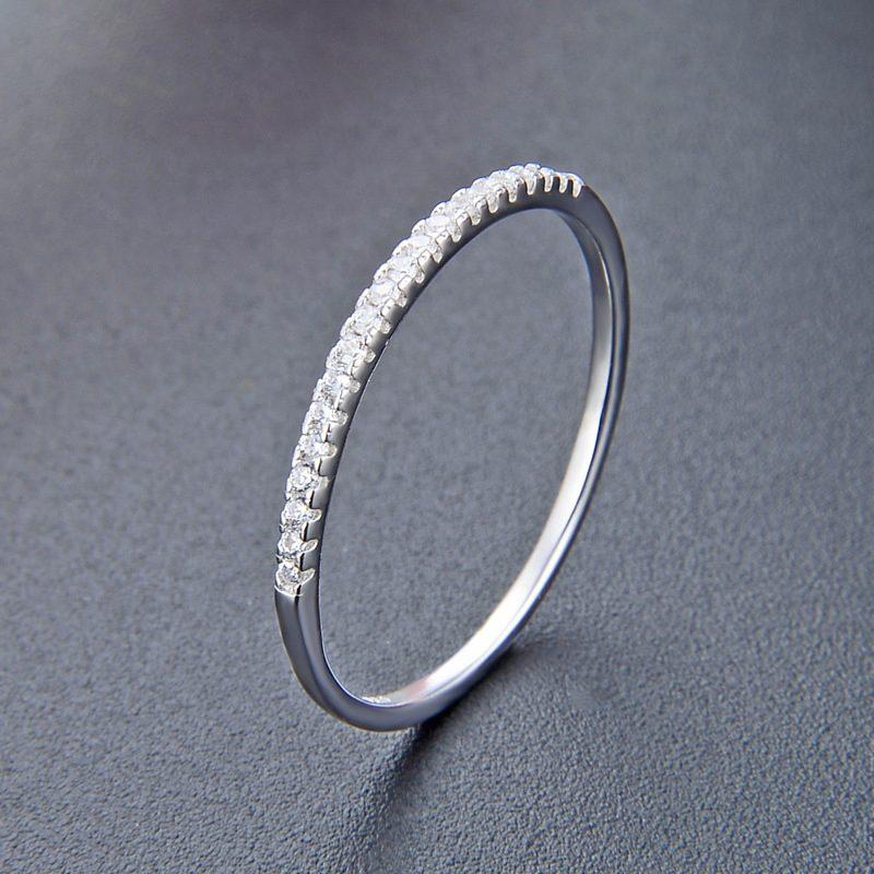 Nhẫn bạc mạ bạch kim đính đá Zircon The Light LILI_414332-06