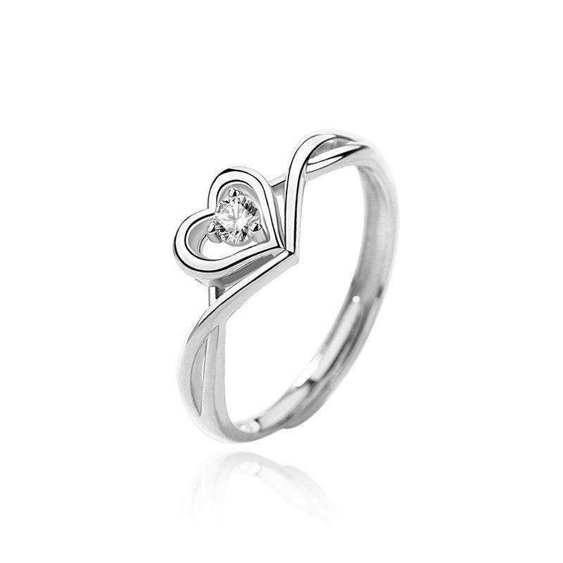Nhẫn bạc mạ vàng 18k đính đá Zircon hình trái tim LILI_349632-04