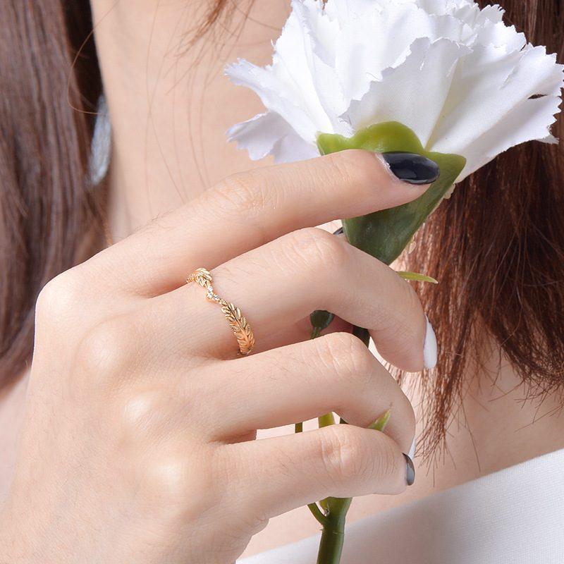 Nhẫn bạc mạ vàng Cây ô liu LILI_114577-01