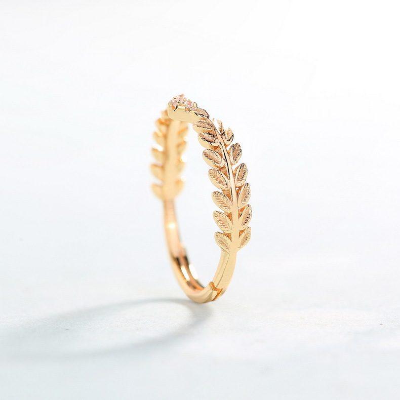 Nhẫn bạc mạ vàng Cây ô liu LILI_114577-02
