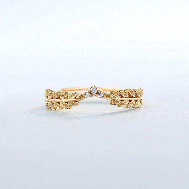 Nhẫn bạc mạ vàng Cây ô liu LILI_114577-03