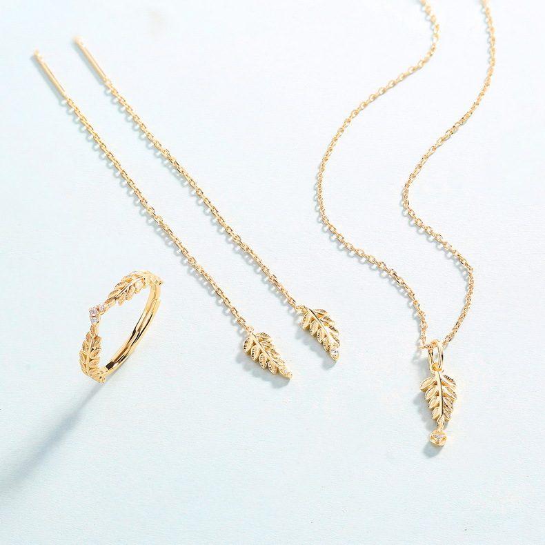 Nhẫn bạc mạ vàng Cây ô liu LILI_114577-04