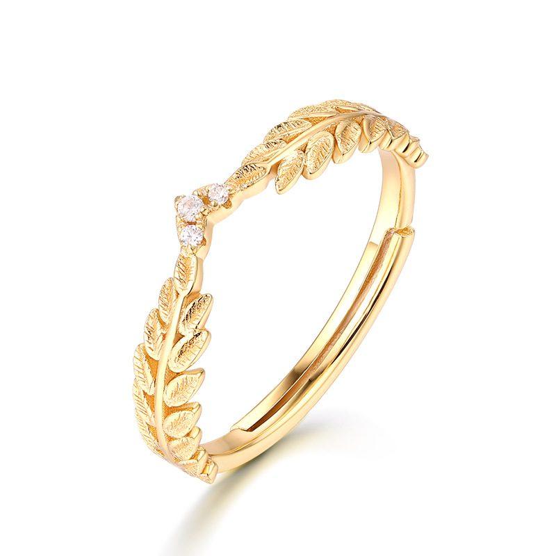 Nhẫn bạc mạ vàng Cây ô liu LILI_114577-05