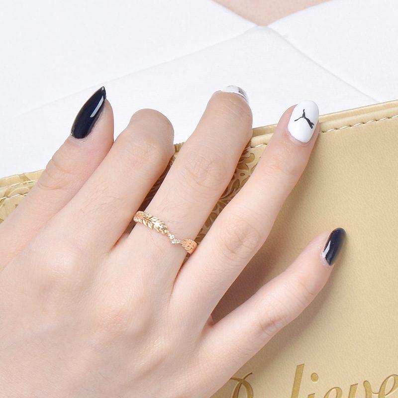 Nhẫn bạc mạ vàng Cây ô liu LILI_114577-07