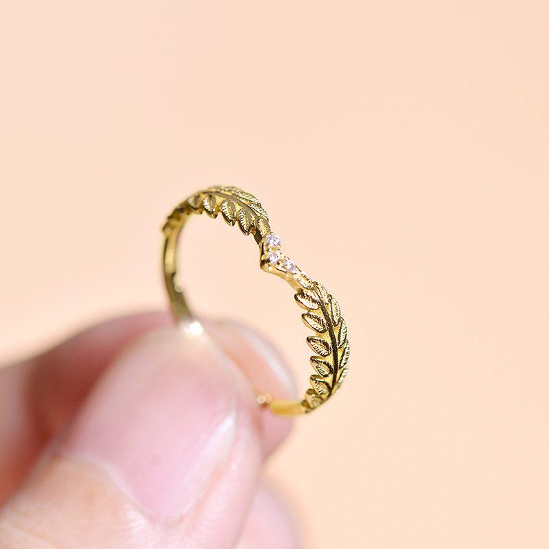 Nhẫn bạc mạ vàng Cây ô liu LILI_114577-08