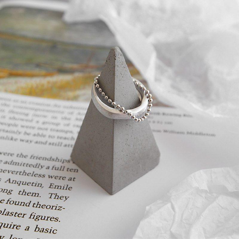 Nhẫn bạc mạ vàng dạng chuỗi hạt LILI_346838-05