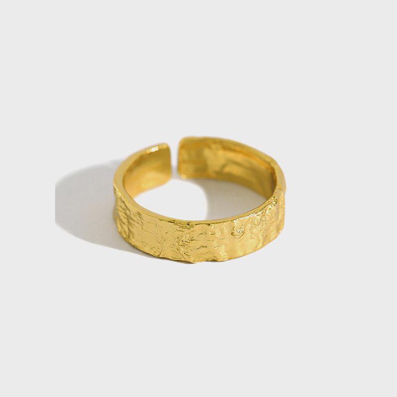 Nhẫn bạc mạ vàng dạng giấy bạc LILI_639554-01