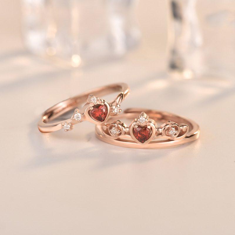 Nhẫn bạc mạ vàng đính đá Zircon Princess LILI_773597-01