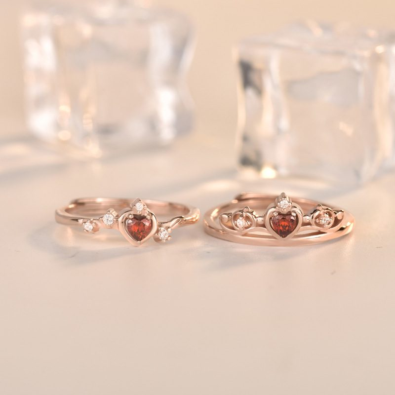 Nhẫn bạc mạ vàng đính đá Zircon Princess LILI_773597-02
