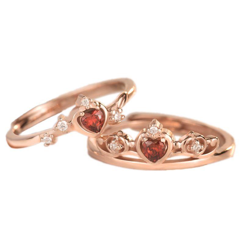 Nhẫn bạc mạ vàng đính đá Zircon Princess LILI_773597-04