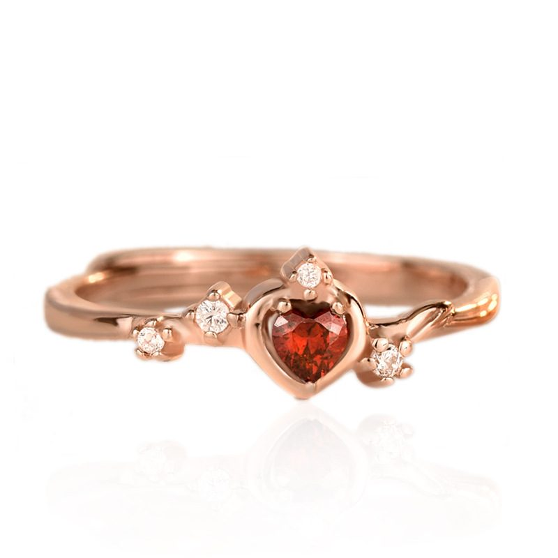 Nhẫn bạc mạ vàng đính đá Zircon Princess LILI_773597-05