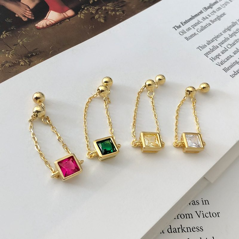 Nhẫn bạc mạ vàng đính đá Zircon dạng chuỗi LILI_153922-01