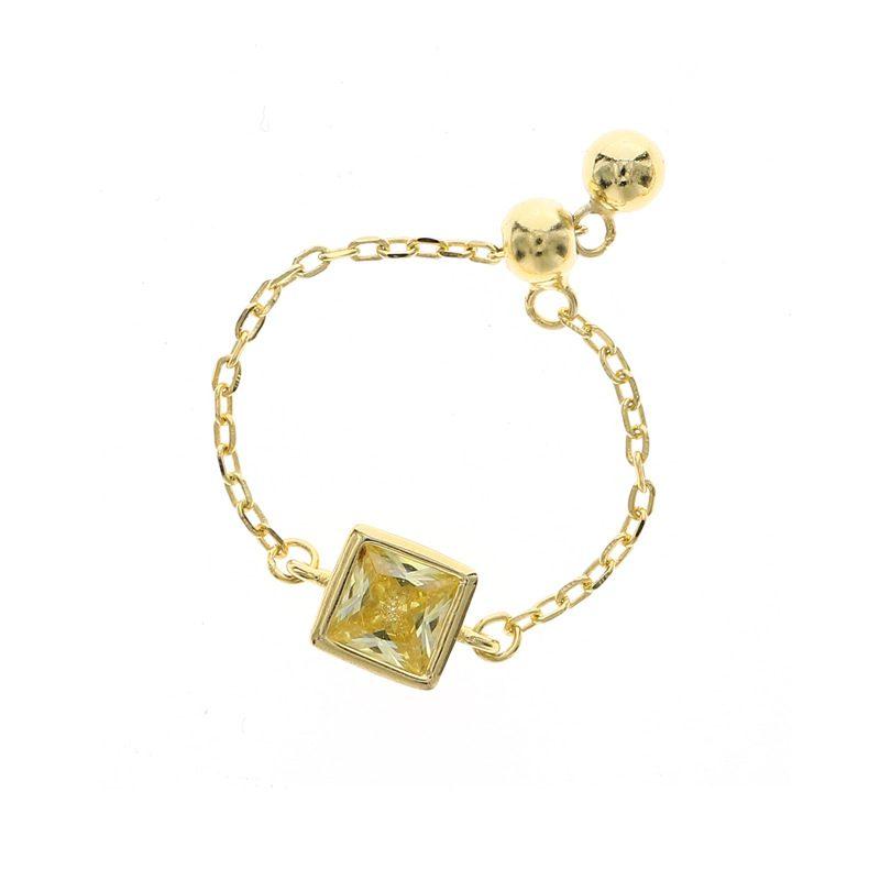 Nhẫn bạc mạ vàng đính đá Zircon dạng chuỗi LILI_153922-02