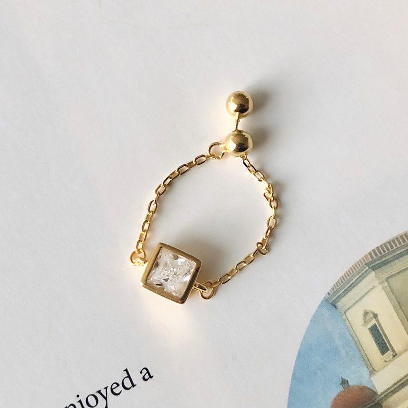 Nhẫn bạc mạ vàng đính đá Zircon dạng chuỗi LILI_153922-03