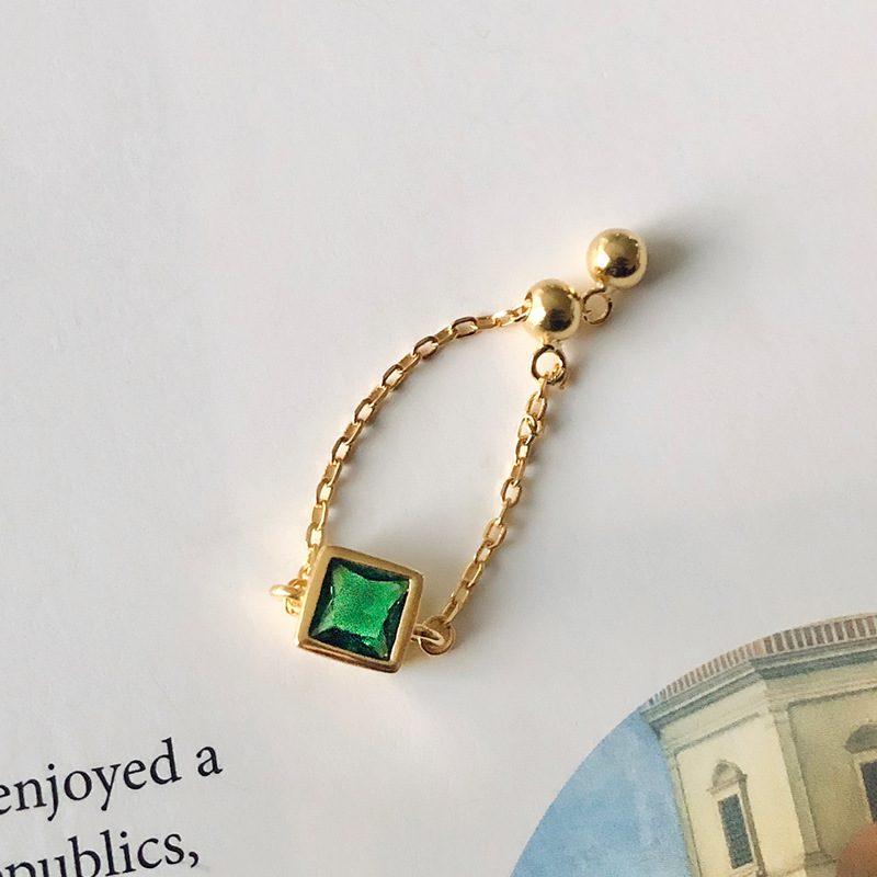 Nhẫn bạc mạ vàng đính đá Zircon dạng chuỗi LILI_153922-04