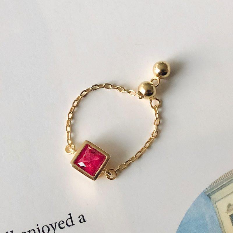 Nhẫn bạc mạ vàng đính đá Zircon dạng chuỗi LILI_153922-06