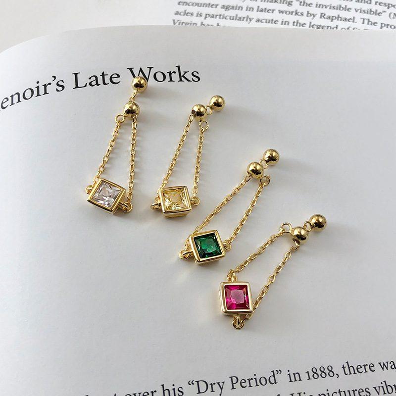 Nhẫn bạc mạ vàng đính đá Zircon dạng chuỗi LILI_153922-08