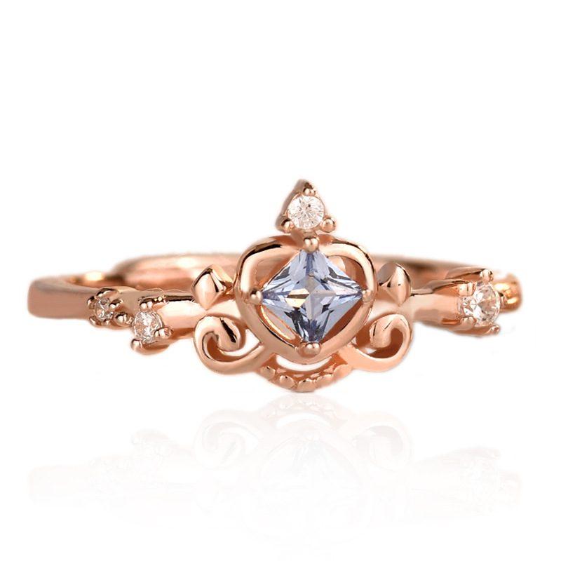 Nhẫn bạc mạ vàng đính đá Zircon hình vương miệng LILI_681979-06