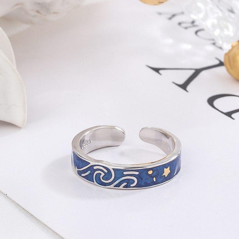 Nhẫn đôi bạc Bầu trời sao LILI_553548-02