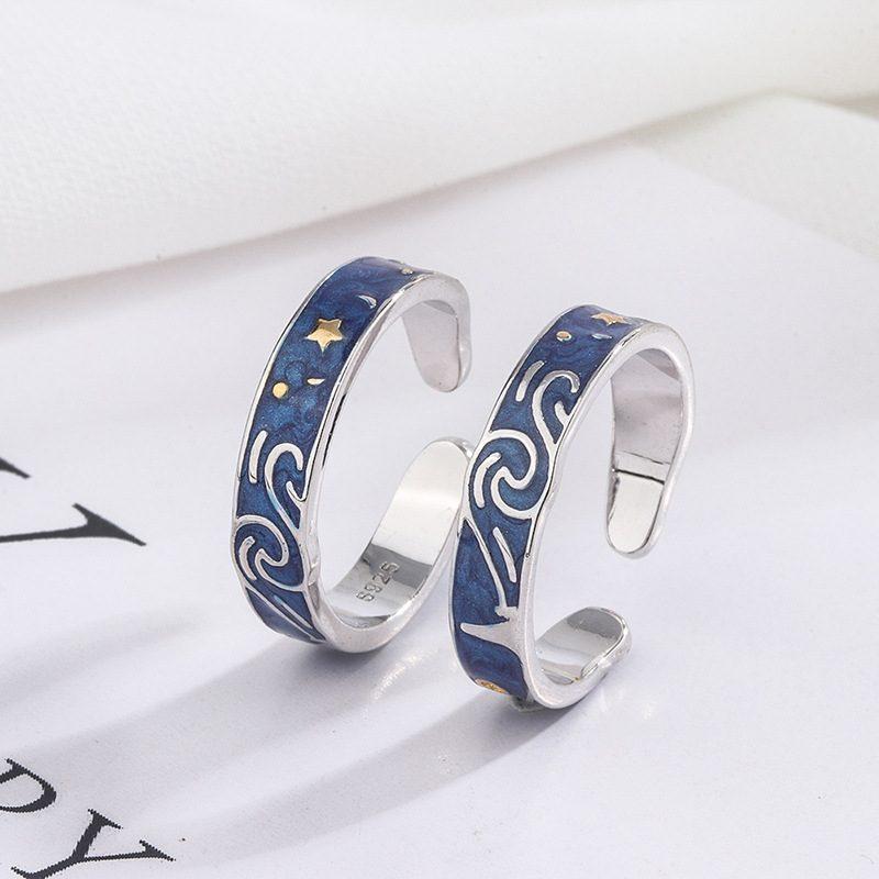 Nhẫn đôi bạc Bầu trời sao LILI_553548-04