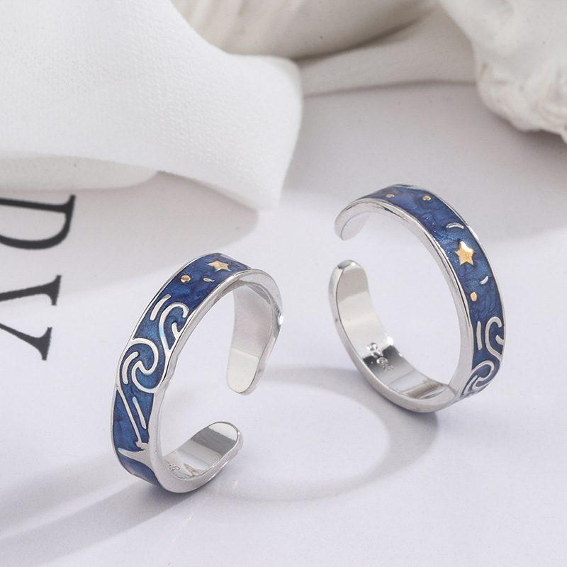 Nhẫn đôi bạc Bầu trời sao LILI_553548-05
