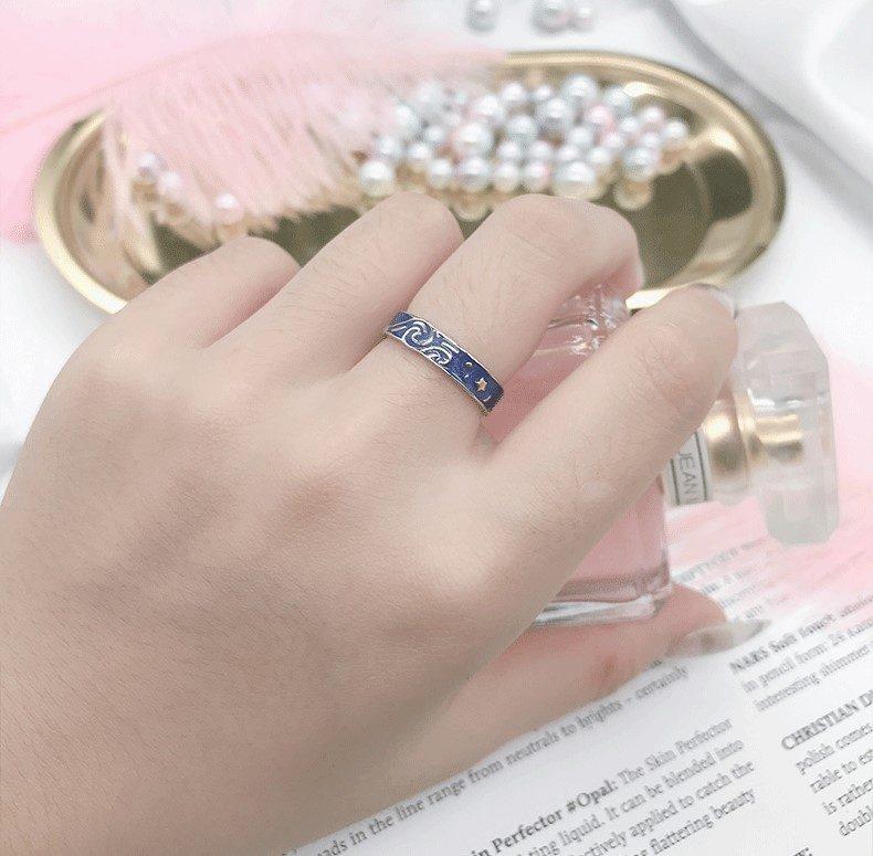 Nhẫn đôi bạc Bầu trời sao LILI_553548-06