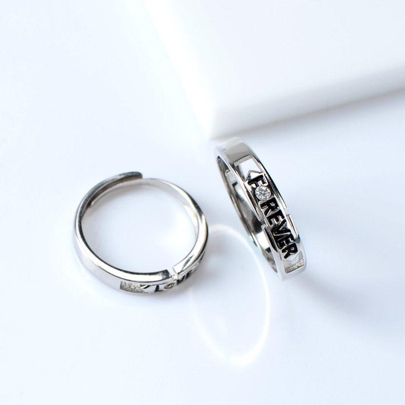 Nhẫn đôi bạc Forever Love LILI_518733-01
