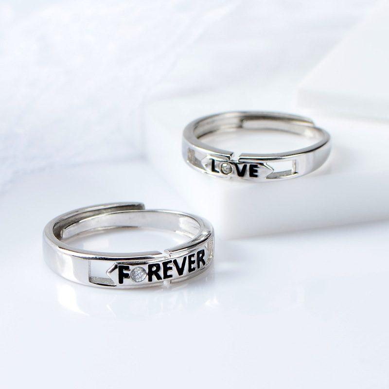 Nhẫn đôi bạc Forever Love LILI_518733-02