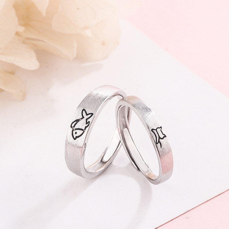 Nhẫn đôi bạc Mèo Cá LILI_331213-02