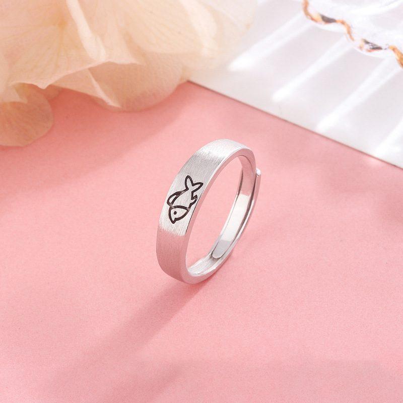 Nhẫn đôi bạc Mèo Cá LILI_331213-03