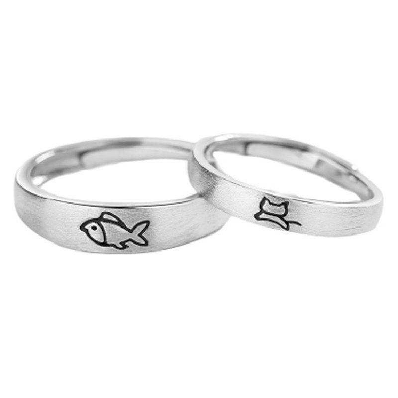 Nhẫn đôi bạc Mèo Cá LILI_331213-05