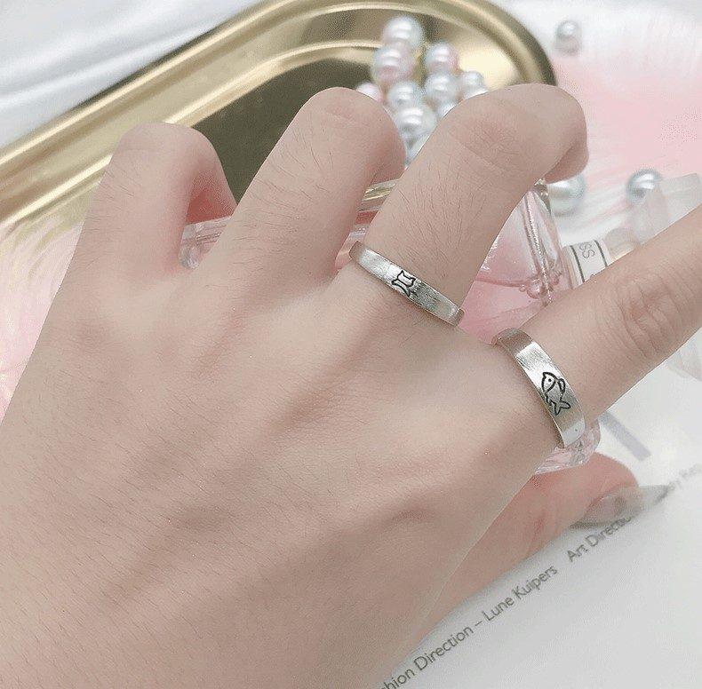 Nhẫn đôi bạc Mèo Cá LILI_331213-06