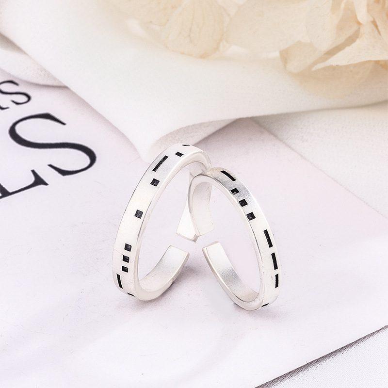 Nhẫn đôi bạc Pixel LILI_479512-01