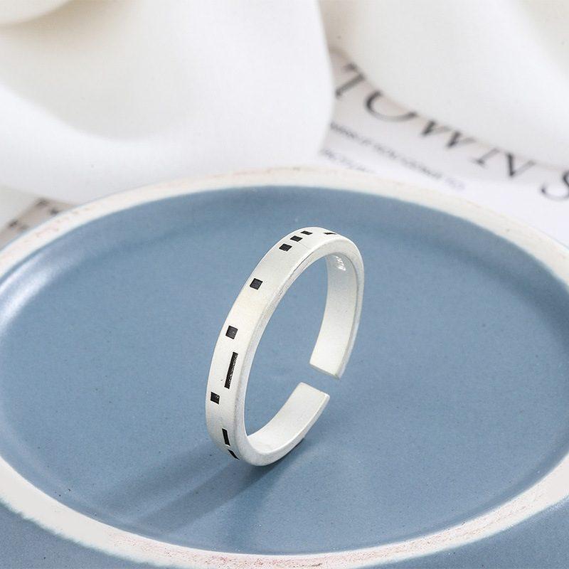 Nhẫn đôi bạc Pixel LILI_479512-03