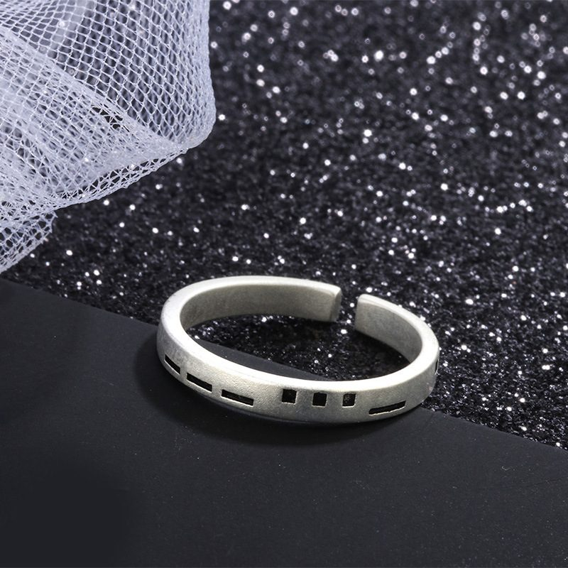 Nhẫn đôi bạc Pixel LILI_479512-04